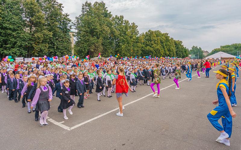 Парад первоклассников Кузнецк