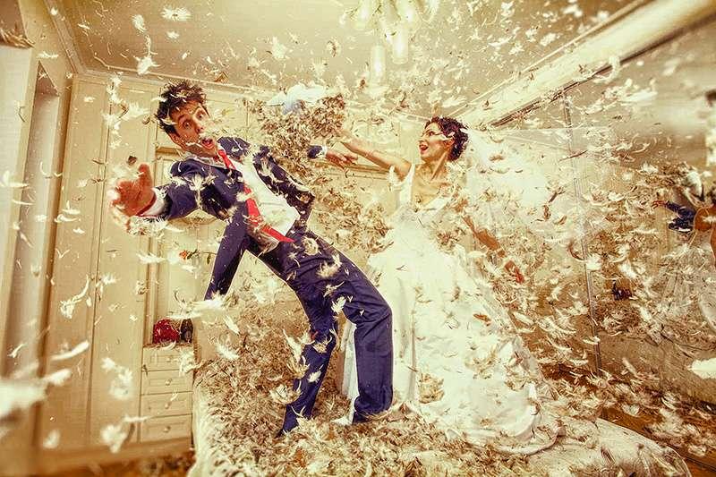 Нестандартная свадебная фотография