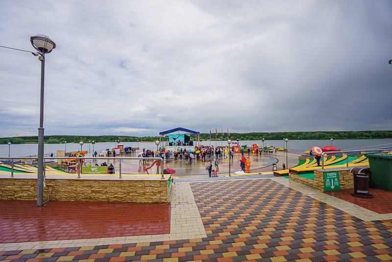 Набережная и фонтан города Спутник Пенза