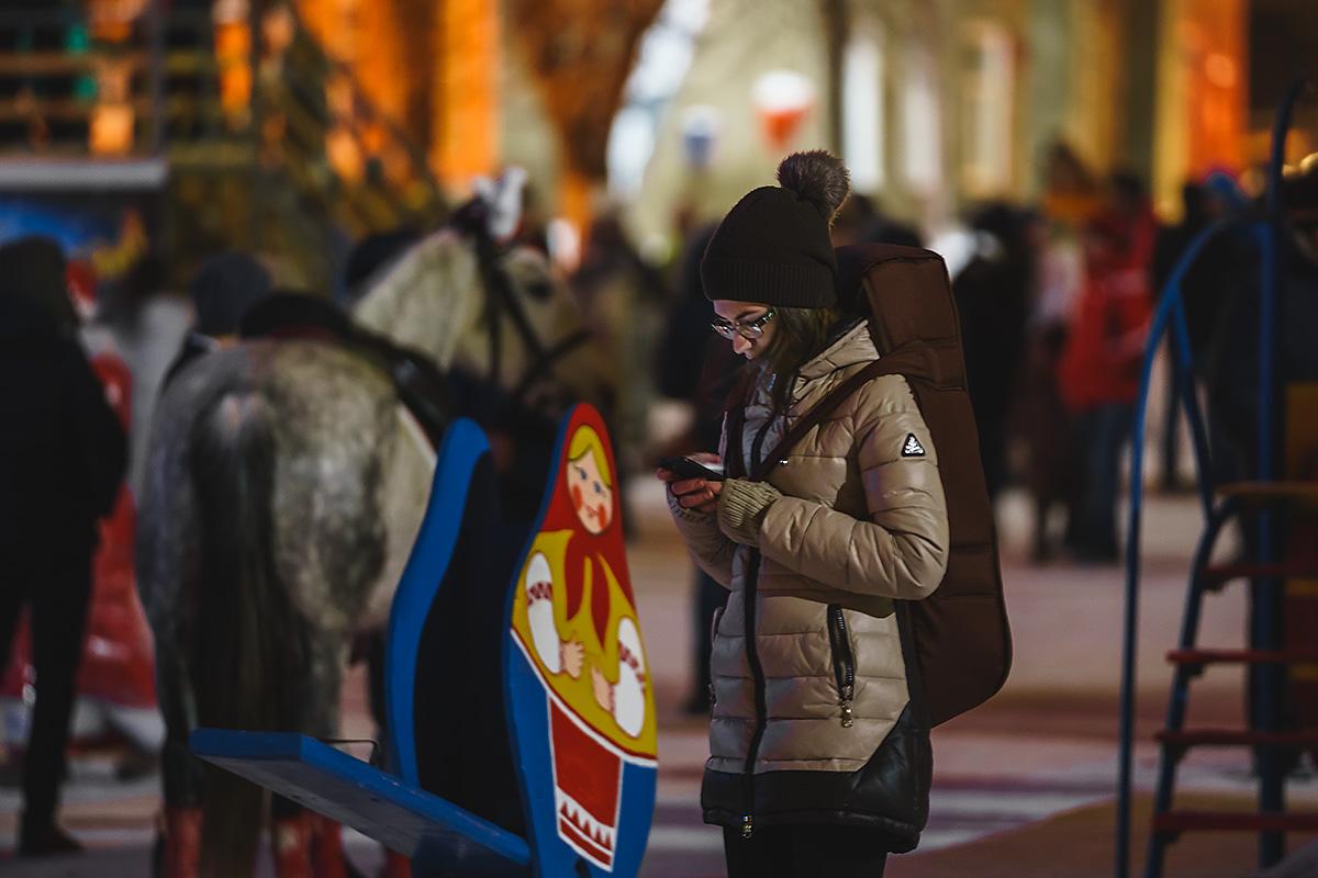 Кузнецк, площадь, новый год